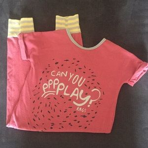 "Rags To Raches ""Can You Play"" Romper 2T"